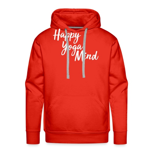 Happy Yoga Mind Schriftzug versetzt - Männer Premium Hoodie