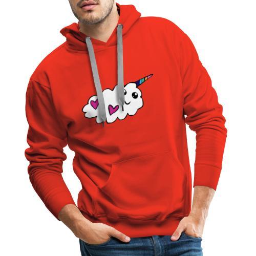 Nuage licorne Kawaii - Sweat-shirt à capuche Premium pour hommes