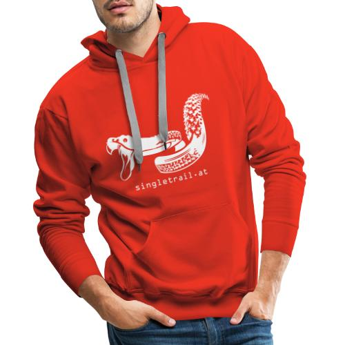 Single Trail Snake in Weiss - Männer Premium Hoodie