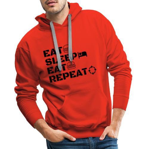 eat sleep eat repeat - Sweat-shirt à capuche Premium pour hommes