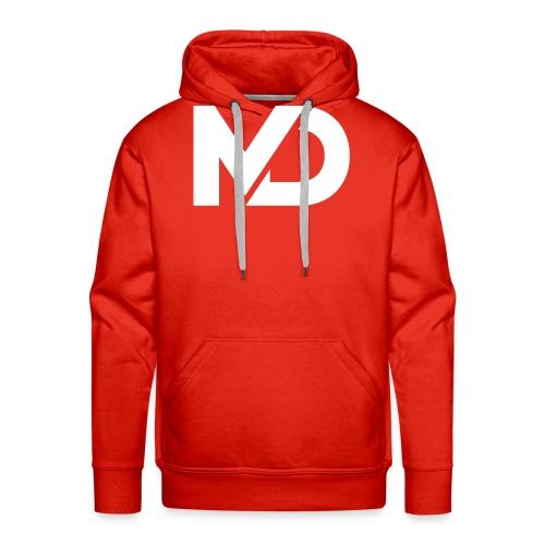 logo_wit - Mannen Premium hoodie