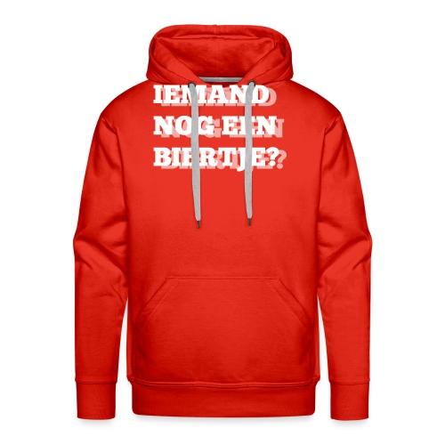 Iemand nog een biertje?? Dubbel kijken print - Mannen Premium hoodie