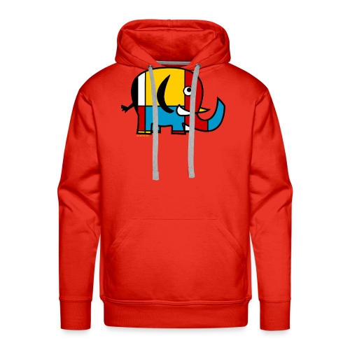 Mondrian Elephant - Men's Premium Hoodie