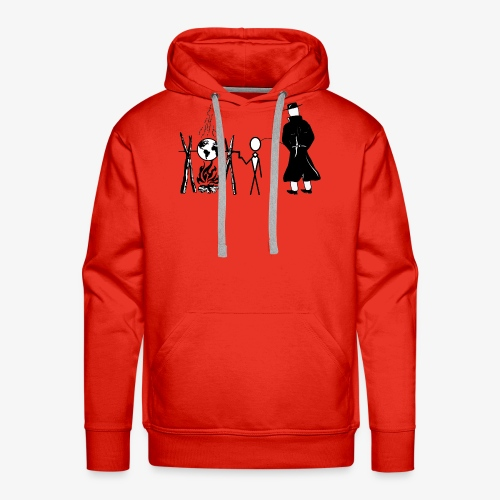 Pissing Man against human self-destruction - Männer Premium Hoodie