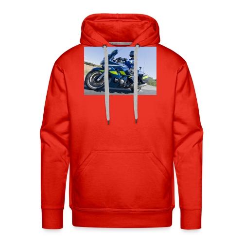 24 heures avec la brigade motorisee de Castelnau l - Sweat-shirt à capuche Premium pour hommes