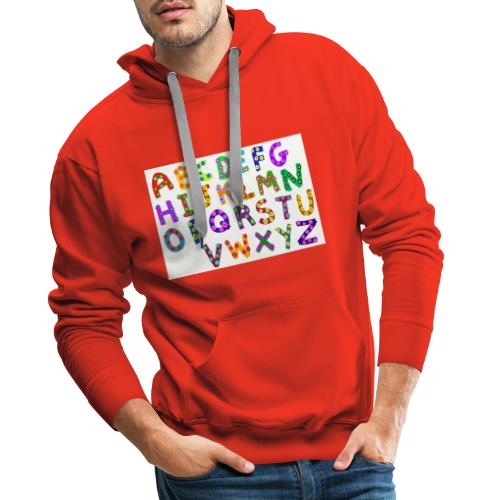 alphabet - Männer Premium Hoodie