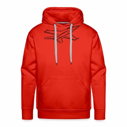 f16 falcon right bw - Mannen Premium hoodie