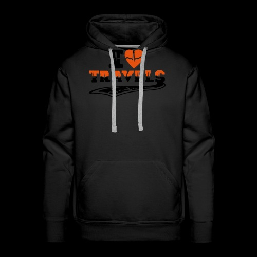 i love travels surprises 2 col - Men's Premium Hoodie