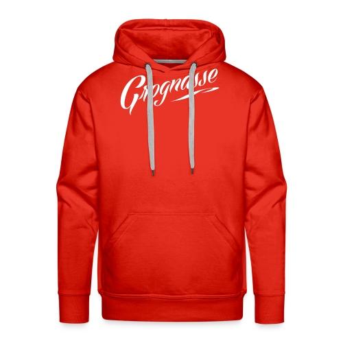GROGNASSE BLANC - Sweat-shirt à capuche Premium pour hommes