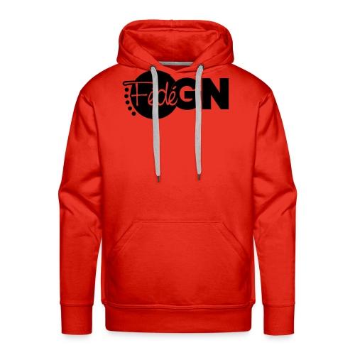 Logo FédéGN pantone - Sweat-shirt à capuche Premium pour hommes