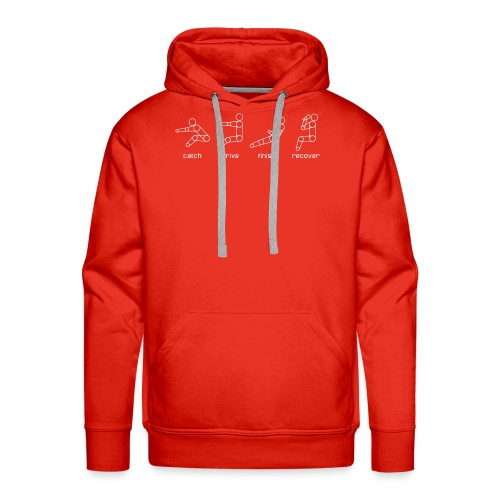 catch drive finish recover - Men's Premium Hoodie