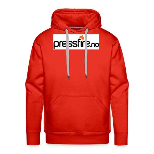 PFlogohvit jpg - Premium hettegenser for menn