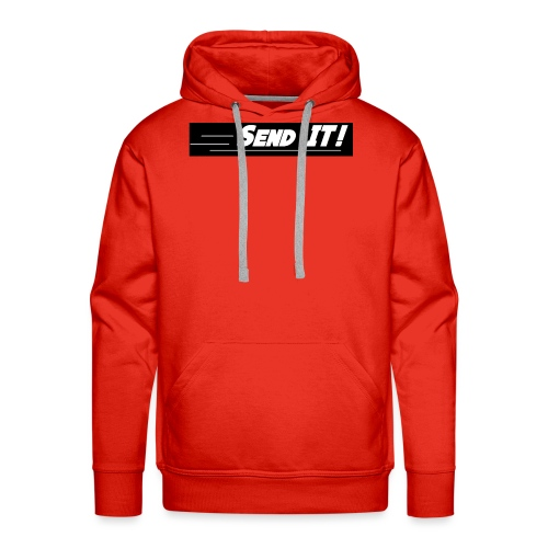 send it logo black and white - Men's Premium Hoodie