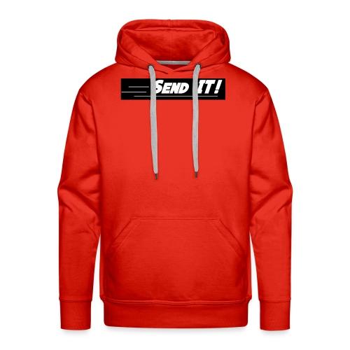 send it logo black and white - Men's Premium Hoodie