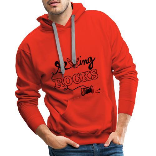 Sewing Rocks - Sweat-shirt à capuche Premium pour hommes