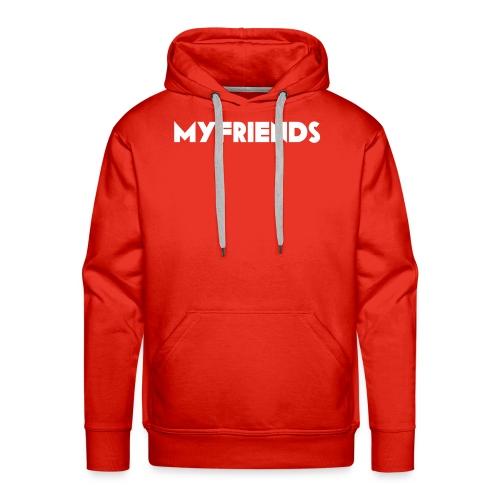 MF2 tshit logo blanc - Sweat-shirt à capuche Premium pour hommes