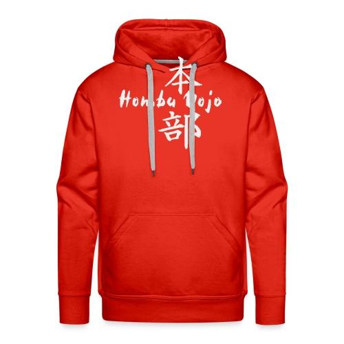 HombuDojo logo wt trans hr - Men's Premium Hoodie
