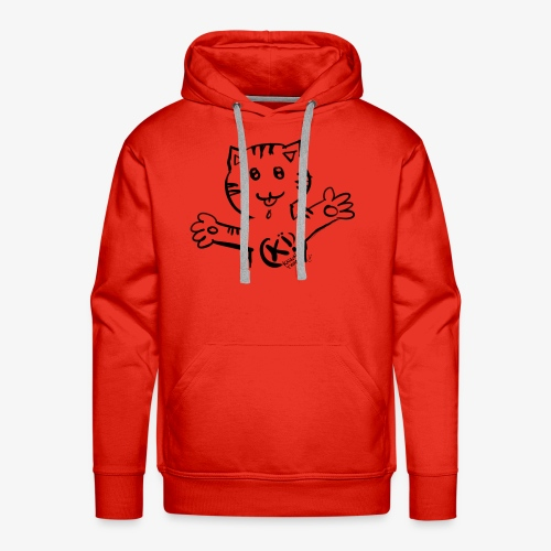 Kii! Team Cat - Sweat-shirt à capuche Premium pour hommes