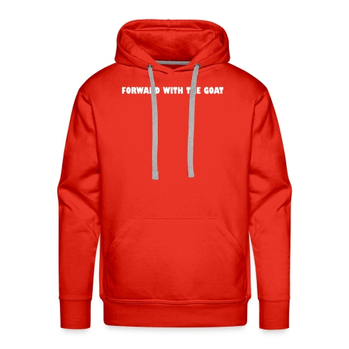 forward with the goat - Mannen Premium hoodie