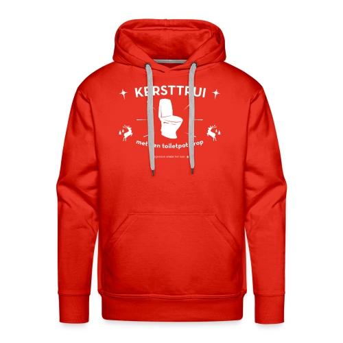 Kersttrui met een toiletpot erop - Mannen Premium hoodie