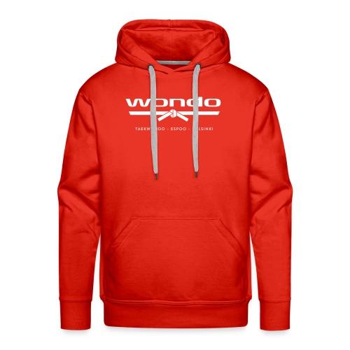 Wondo valkoinen logo - Miesten premium-huppari