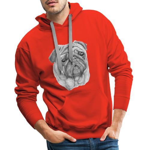 Pug - mops 1 - Herre Premium hættetrøje