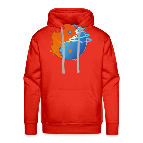 Ying-yang feu et glace - Sweat-shirt à capuche Premium pour hommes