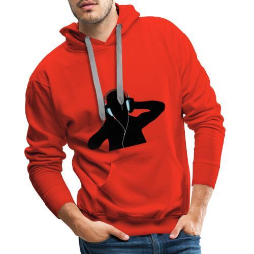 DJ listen - Sweat-shirt à capuche Premium pour hommes