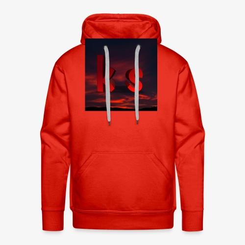 Logo KS red - Sweat-shirt à capuche Premium pour hommes