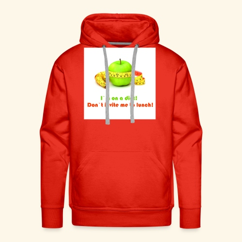 I am on diet 2! Don`t invite me to lunch! - Men's Premium Hoodie