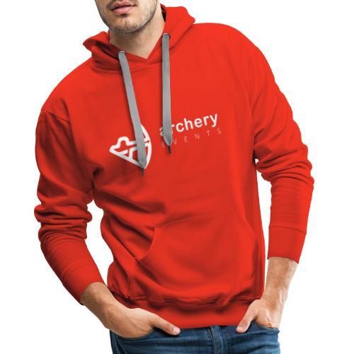 Archery Events Logo white - Männer Premium Hoodie