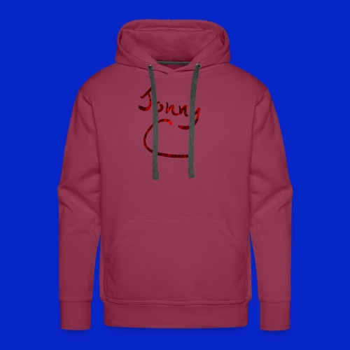 Jonny C Red Handwriting - Men's Premium Hoodie