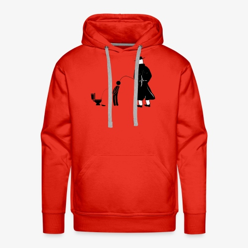 """Pissing Man against """"I can not piss properly guy"""" - Männer Premium Hoodie"""