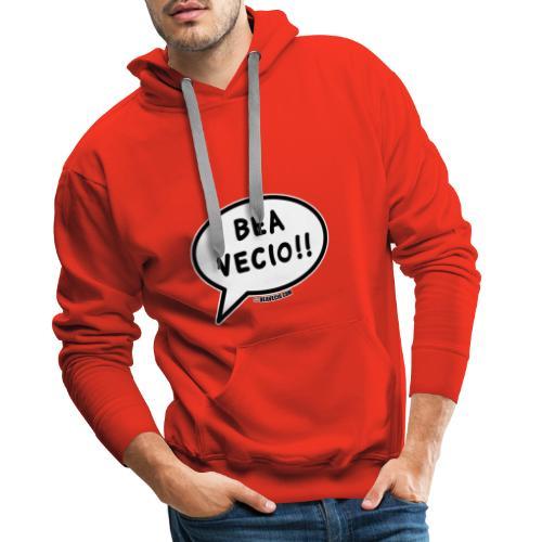 Bea Vecio Logo - Felpa con cappuccio premium da uomo
