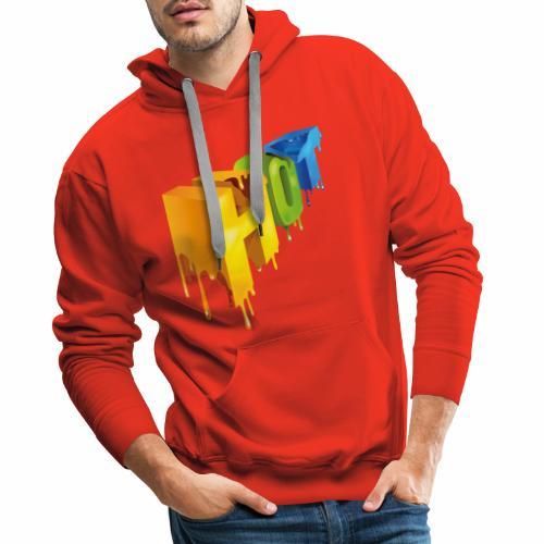 Hot lettering - Sudadera con capucha premium para hombre
