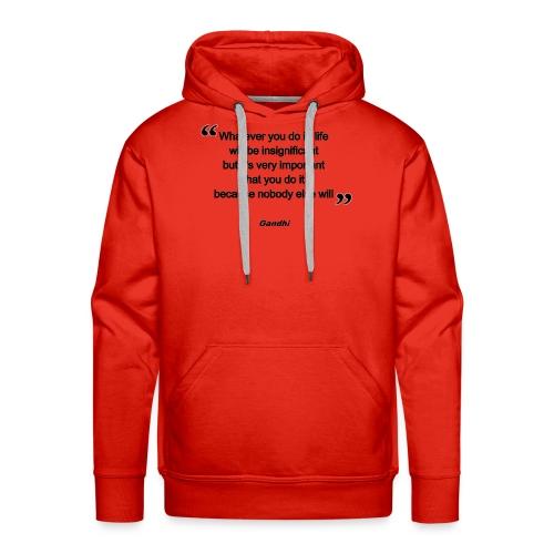 gandhi - Sweat-shirt à capuche Premium pour hommes