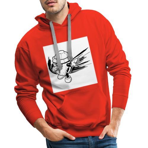 citron dab noir et blanc - Sweat-shirt à capuche Premium pour hommes