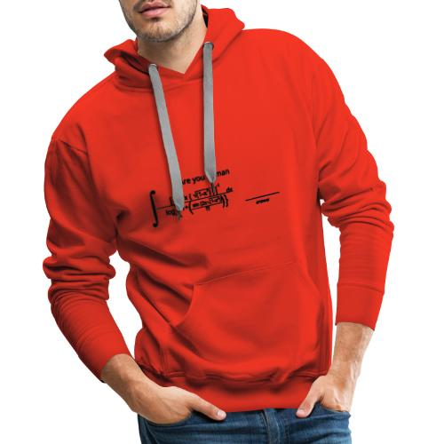 Are you human - Sweat-shirt à capuche Premium pour hommes