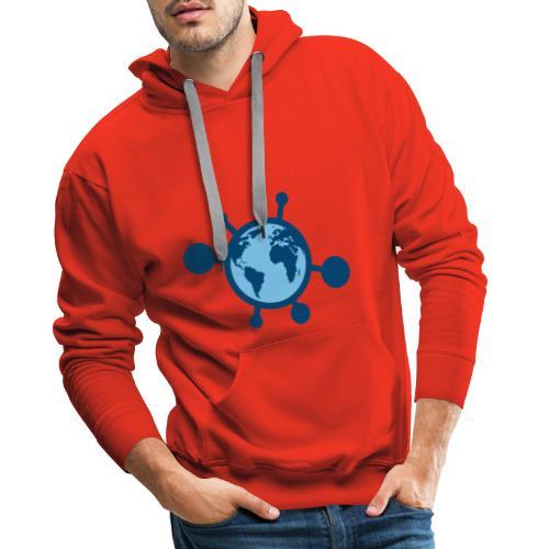 Mundo Covid-19 - Sudadera con capucha premium para hombre