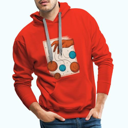 Planets On A String - Men's Premium Hoodie