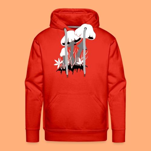 champignons - Sweat-shirt à capuche Premium pour hommes