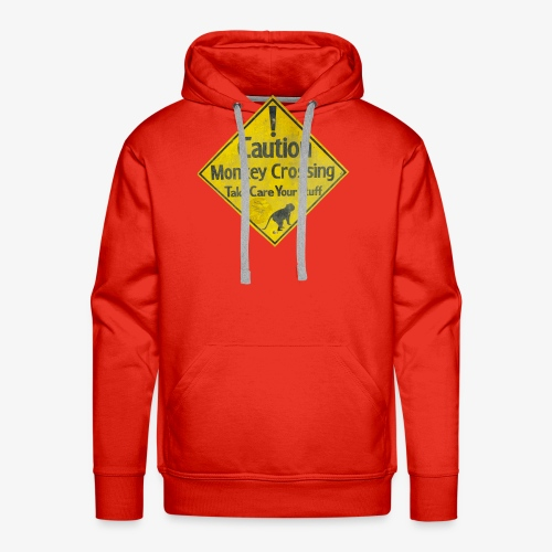 Caution Monkey Crossing - Männer Premium Hoodie