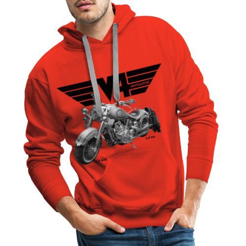 V4 Motorcycles black Wings - Männer Premium Hoodie