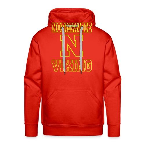 Normandie Viking Def jaune - Sweat-shirt à capuche Premium pour hommes