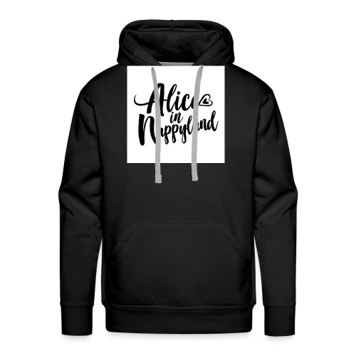 Alice in Nappyland Typography Black 1080 1 - Men's Premium Hoodie