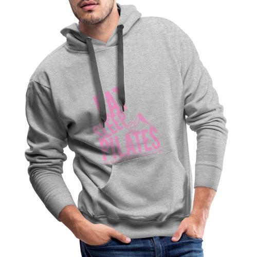 eat sleep pilates 2019 pink - Men's Premium Hoodie
