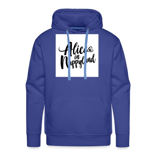 Alice in Nappyland Typography Black 1080 1 - Men's Premium Hoodie