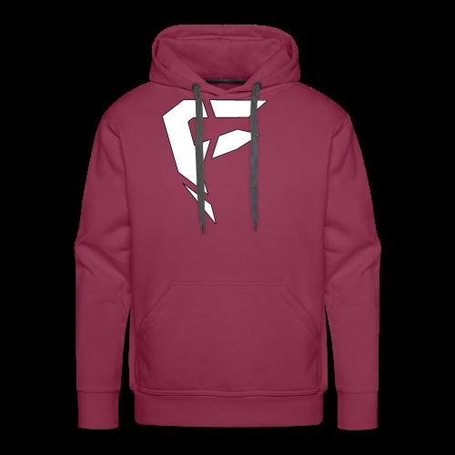 F Logo in Weiß - Männer Premium Hoodie