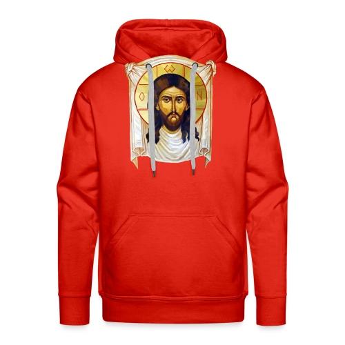 Low-Poly Jesus Icon - Men's Premium Hoodie