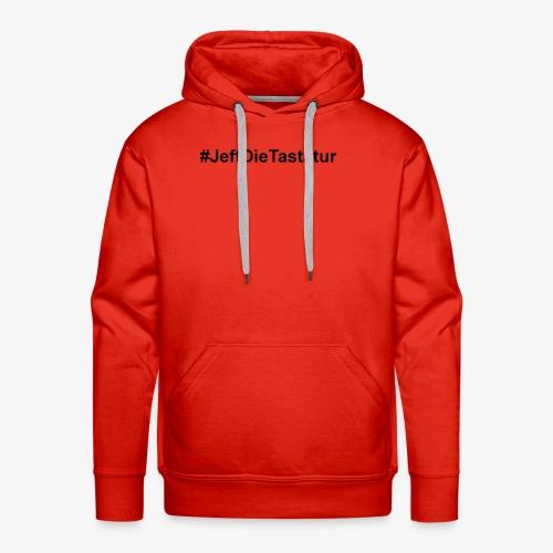 hashtag jeffdietastatur schwarz - Männer Premium Hoodie